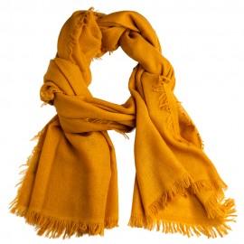 Dunkelgoldener Schal aus handgewebter Kaschmir