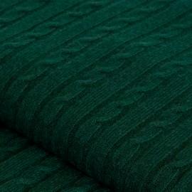 Flaschengrüne Kaschmir-Decke