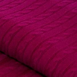 Pflaumenfarbene Kaschmir-Decke