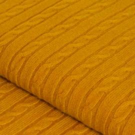 Curryfarbene Kaschmir-Decke