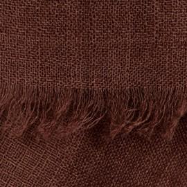 Schwarzbrauner Pashmina-Schal in Leinwandbindung