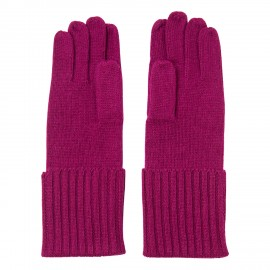Pflaumenfarbe, gestrickte Kaschmir-Handschuhe