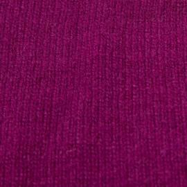 Pflaumenfarbener Halswärmer aus reinem Kaschmir