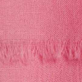 Rosa Pashmina-Schal in 2-Lagen-Leinwandbindung