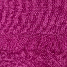 Violetter Pashmina-Schal in 2-Lagen-Leinwandbindung
