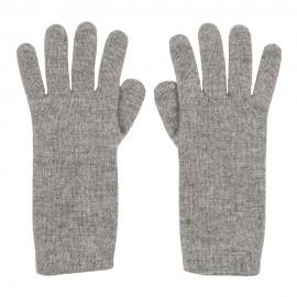 Graue gestrickte Kaschmir-Handschuhe