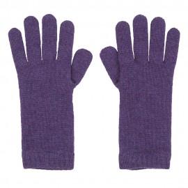 Violette gestrickte Kaschmir-Handschuhe