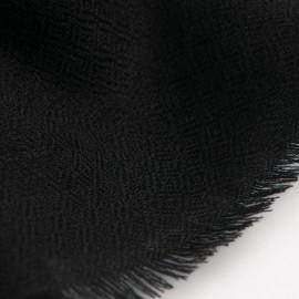 Schwarzer diamantgewebter Pashmina-Schal
