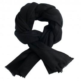 Schwarzes Pashmina-Tuch aus Kaschmirtwill