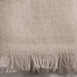 Hellgrauer diamantgewebter Pashmina-Schal