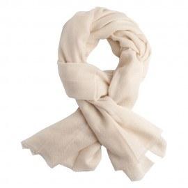 Cremeweißes, twillgewebtes Pashmina-Tuch