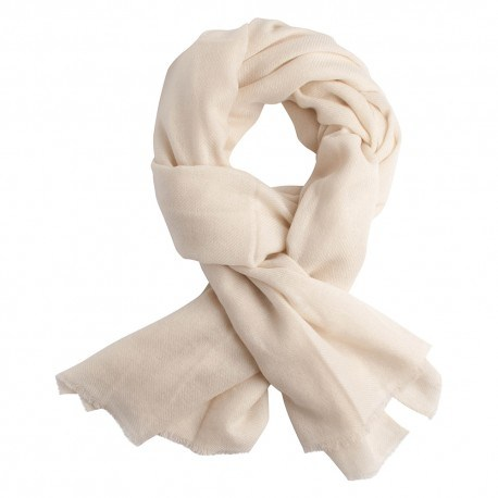 Cremeweißes twillgewebtes Pashmina-Tuch