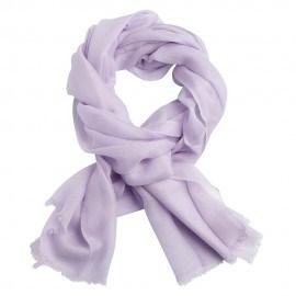 Lavendelfarbener Pashmina-Schal in doppelfädiges Köperbindung