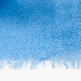 Hellblauer Pashmina-Schal in doppelfädiges Köperbindung