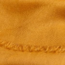 Dunkelgoldener Pashmina-Schal in doppelfädiges Köperbindung