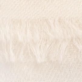 Cremeweißer Pashmina-Schal in doppelfädiges Köperbindung