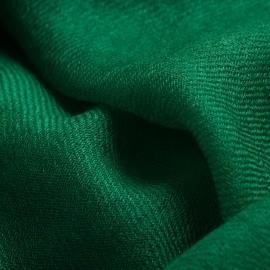 Dunkelgrüner Pashmina-Schal in doppelfädiges Köperbindung