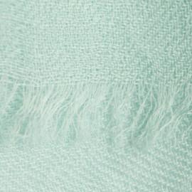 Mintgrüner Pashmina-Schal in doppelfädiges Köperbindung