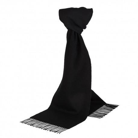 Schwarzes Halstuch aus Lammwolle