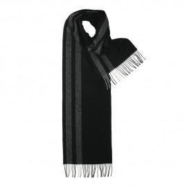 Schwarzes Halstuch mit grauen Streifen