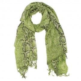 Wolltuch mit olivgrünem Schlangendruck