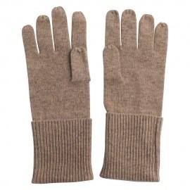 Gestrickte Kaschmir-Handschuhe in beige melange