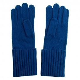 Dunkelblaue gestrickte Kaschmir-Handschuhe
