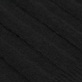Schwarzes gestricktes Halstuch aus Kaschmir
