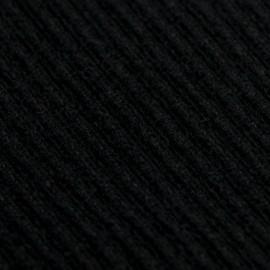 Schwarzer Poncho aus gestricktem Kaschmir