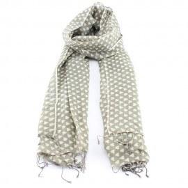Beiges Tuch aus Wolle und Seide mit Herzen