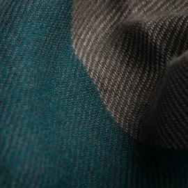 Großkarierter Schal in grün, karamell, beige und anthrazit