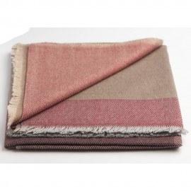 Großkarierter Schal aus Wolle und Kaschmir in vier Farben