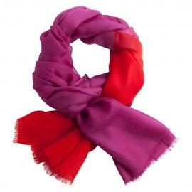 Zweifarbiger Pashmina-Schal in violett und rot