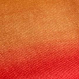 Zweifarbiger Pashmina-Schal in rot und gold