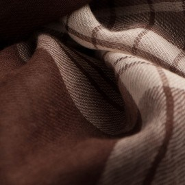 Schottenkaro Pashmina-Schal in schokoladen- und cremefarben