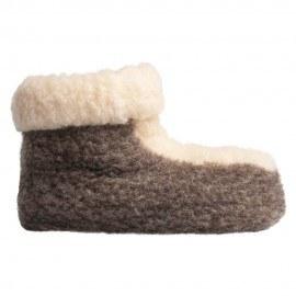 Hausschuhe aus reiner Lammwolle