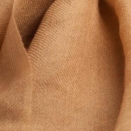 Karamellfarbener Pashmina-Schal in 2-Lagen-Twill