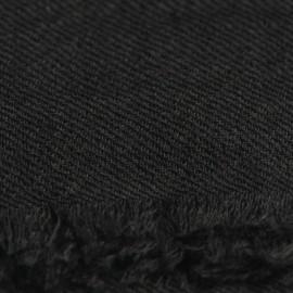 Anthrazitfarbener Pashmina-Schal gewebt in 2-Lagen-Twill