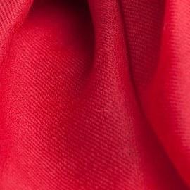 Preiselbeerroter Pashmina-Schal in 2-Lagen-Twill