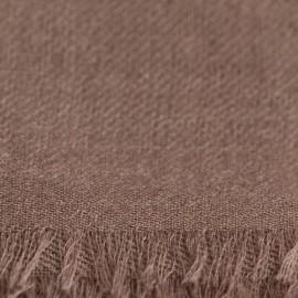 Graubrauner Pashmina-Schal in 2-Lagen-Twill