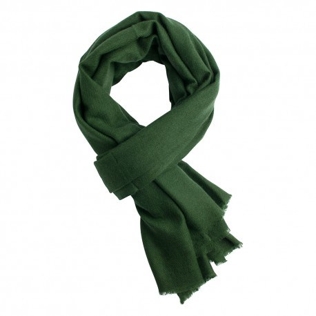 Armeegrünes twillgewebtes Pashmina-Tuch