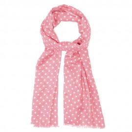 Pinkes Tuch mit weißen Punkten