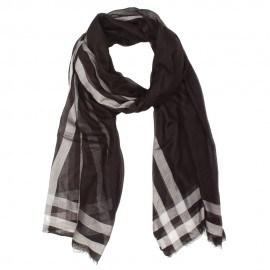 Schwarz-weißes Tuch aus Kaschmir/Modal