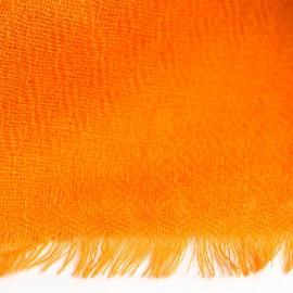 Orangefarbener diamantgewebter Kaschmir-Schal