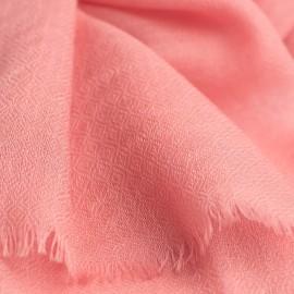 Rosafarbener diamantgewebter Pashmina-Schal