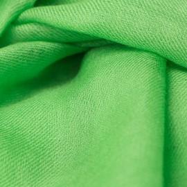 Grasgrüner Pashmina-Schal in doppelfädiges Twill