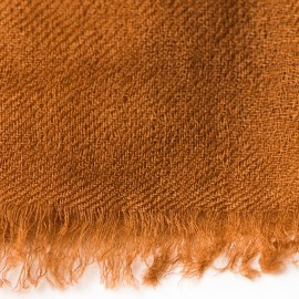 Schokoladenfarbener Pashmina-Schal in doppelfädiges Twill
