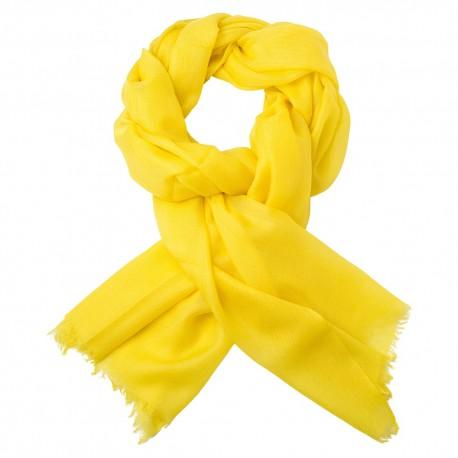 Gelbes Pashmina-Tuch in doppelfädiges Twill