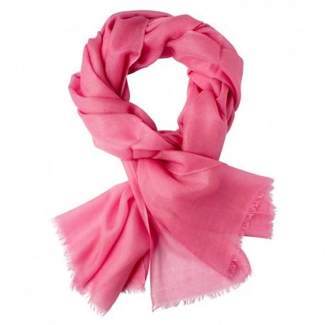 Rosafarbener Pashmina-Schal in doppelfädiges Twill