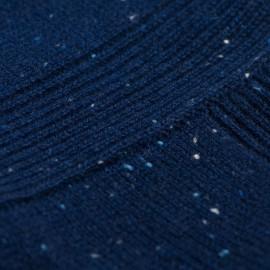 Blau melierter Poncho aus reinem Kaschmir